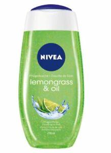 NIVEA Shower Gel / Duschgel Lemongrass & Oil 250 ml - Made in Germany