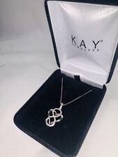 Kay Jewelers( Silver Diamond Heart Infinity Necklace)