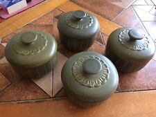 Wedgwood Cambrian Green 4 individual casserole dishes with lids