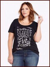 49dbbb3c TORRID LIFE OF PARTY women's (L (0)12 ) Scoop neck Tee Top