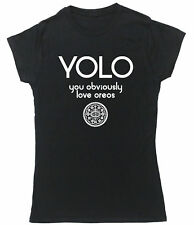 YOLO You Obviously Love Oreos t-shirt fitted short sleeve womens