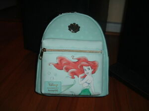 LOUNGEFLY DISNEY ARIEL SHELLS MINT MINI BACKPACK~ WITH TAGS~BRAND NEW~