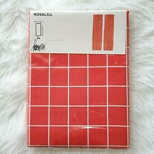 "Ikea Rosalill Room Darkening Window Curtains 1 Pair 57x98"" Red White"