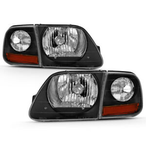 97-03 Ford F150 Expedition Lightning Style Black Headlight Corner Signal Lamp