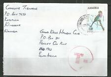 Namibia Cover Windhoek (Katutura)  to South Africe T - Stempel Tax Nachgebühr