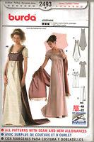 From UK Sewing Pattern Dress Regency Period Costume Jane Austin 10-22 #2493
