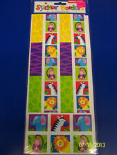 Jungle Party Wild Exotic Safari Animals Birthday Favor Scrapbook Sticker Borders