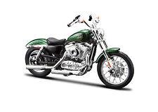 Harley Davidson 2012 XL1200V Seventy-Two verde 1:18 Modelo De Motocicleta