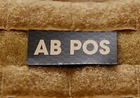 AB POS Blood Type IR Patch Infrared US Army Navy Air Force SEAL USN USAF
