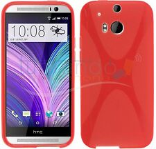 FUNDA de GEL TPU ROJA para HTC ONE 2 M8 en ESPAÑA CARCASA