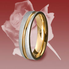 1 Edelstahl Ring, Freundschaftsring, Verlobungsring, Ehering, Trauring m. Gravur