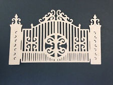 Scrapbooking Embellishment Vintage Brown Double Gates