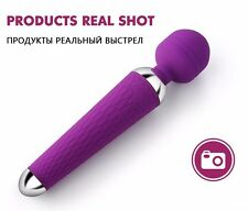 Vibrating Massager Magic Wand Multispeed Female Personal Massage USB Charger