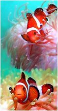 "30x60"" Clownfish Premium Velour Beach Towel"