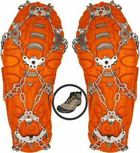 New Crampons Ice Cleats For Shoes / Boots Ice Snow Winter Spikes - Size Large
