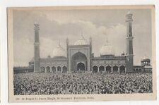 India, Id Prayer in Jama Masjid, 50 Thousand Faithfuls, Delhi Postcard, B230