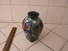 Antique Colorful Beautiful Gouda Pottery Vase Regina Cordoba
