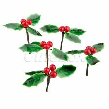Christmas Artificial Fruit Berries Fake Flower Green Leaves Party Decoration 5X