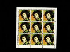 Vintage Original 1993 Limited Hendrix Mini Stamp Sheet Axis Bold As Love Redo