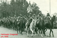 Foto Heimwehr Heimatschutz Dragoner homeguard 1Republik Kavallerie Stahlhelm
