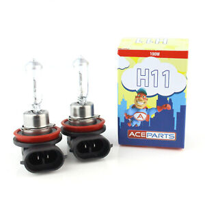 2x H11 100w Clear Standard Halogen Xenon HID Front Fog Lamp Light Bulbs Pair