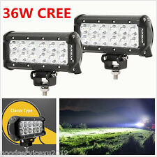 2 Pcs 7 Inch 12LED Car Off-Road Working Lights Bar Flood Beam Super Bright