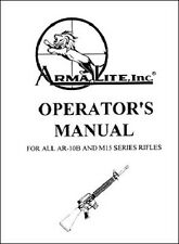 Armalite AR-10 M-15 Manual New Reproduction