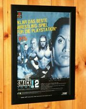 WWF SmackDown! 2 Know Your Role PS1 PSX Small Poster / Old Ad Page Framed