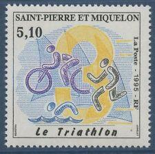 SAINT PIERRE ET MIQUELON N°610 ** Sport Triathlon, Vélo TB, 1995 SPM MNH