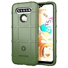 For LG K41S /K51S Shockproof Matte Soft Rubber Case Cove +Glass Screen Protector