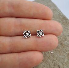 Plata esterlina 925 Lindo Petite Rose Stud Pendientes Oreja de moda para mujer vendedor del Reino Unido