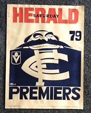 1979 Carlton Blues Premiers Poster Original WEG