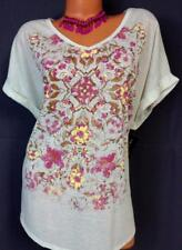 Style & co. beige floral v-neck short sleeve plus size top 3X