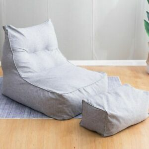 Bean Bag Chair Cover 2 Set Chairs Combination Lazy Lounger No filling Indoor