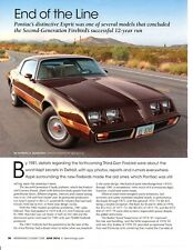 1981 PONTIAC FIREBIRD ESPRIT ~ GREAT 4-PAGE ARTICLE / AD