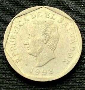 1998 El Salvador 5 Centavos Coin   Nickel   XF  #K838