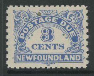 CANADIAN PROVINCES, N.F., MINT, #J3a, OG NH, CLEAN, SOUND & CENTERED