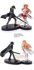 Anime Sword Art Online SAO I Asuna Yuuki & Kirito Lot 2 Figure Set S.A.O.