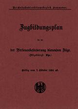 Neuerscheinung: Zugbildungsplan RBD Hannover Winter 1934/35 - Reihungen, Umläufe