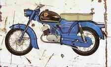 Zundapp KS100 1965 Aged Vintage SIGN A3 LARGE Retro