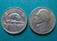 1972 Lot of 2 US/CANADA 5 CENTS COINs> 1972, Lot of 2 US/CANADA 5 CENTS COINs