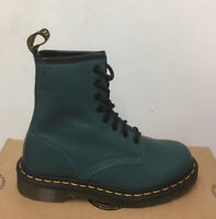 DR. MARTENS 1460  PEACOCK BROADWAY   LEATHER  BOOTS SIZE UK 9