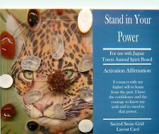 "STAND IN YOUR POWER Grid Card 4x6"" Heavy Cardstock For Use with Healing Crystal"