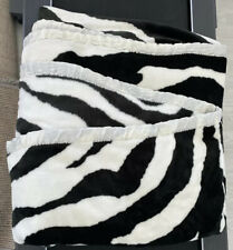 Super King XXL Large bed throw Zebra Print Rrp £230 Fur Thick Luxurious Cover