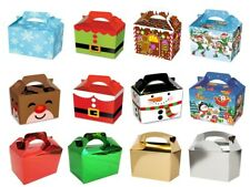 Childrens Kids Christmas Table Present Gift Boxes / Xmas Party Food Boxes