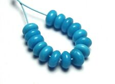 15 pcs SLEEPING BEAUTY TURQUOISE 4.5mm Rondelle Beads Natural /D1