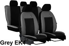 Universal Grey/Black Eco-Leather Full Set Car Seat Covers fits Dacia Logan