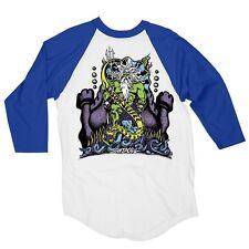 Santa Cruz Jason Jessee NEPTUNE 3/4 RAGLAN Shirt WHITE/ROYAL BLUE XXL