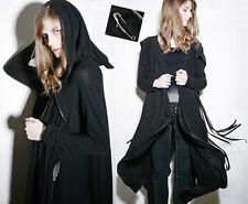 Veste gilet cardigan gothique lolita fashion loose capuche franges mode Punkrave