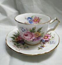 Aynsley Bone China England Floral Garden Bouquet Tea Cup & Saucer GUC